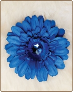 Daisy Flower Clippie Solid Blue
