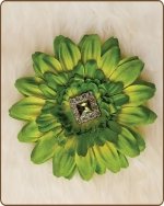 Daisy Flower Clippie Shades of Artichoke