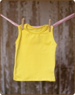 Yellow Sleeveless Tshirt