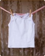 White Sleeveless Tshirt