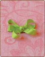 Baby Bow Apple Green