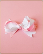 Boutique Twisted Bow Pink/White