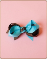 Boutique Twisted Bow Preppy Blue