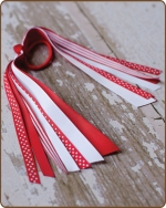 Pony O Streamer Red/White