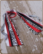 Pony O Streamer Red Zebra