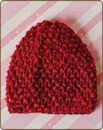 Crochet Waffle Beanie Red