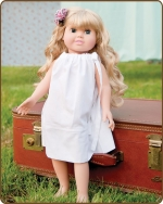 18 inch Doll Pillowcase Dress - White