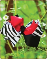 Boutique Twisted Large Bow Red Zebra