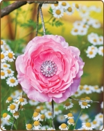 Ruffled Ranunculus Flower Clippie Lt. Pink