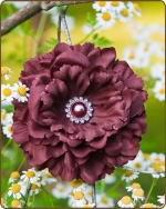 Dahlia Flower Clippie Brown - 5 inch
