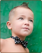 Boy Bow tie - Black/White