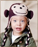 Brown/Khaki Monkey Hat