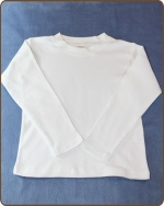 White Long Sleeve Boys Tshirt