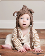 Brown Bubble Hat
