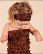 Brown Lace Headband