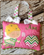 Pink/Green Polka Dot Tooth Fairy Pillow