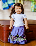 Doll Ruffled Pants - Purple