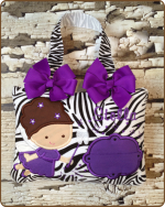 Purple Zebra Tooth Fairy Pillow