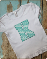 Block Applique Monogram - Tshirt