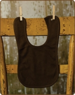 Brown Knit Bib
