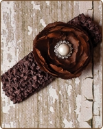 Chocolate Crochet Headbands 2.5 inch