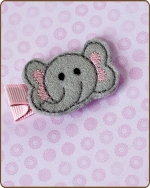 Elephant Felt Clippie