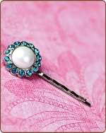Amelia Bobby Pin in Turquoise