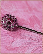 Naomi Bobby Pin in Hot Pink