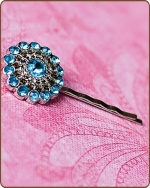 Chloe Bobby Pin in Turquoise