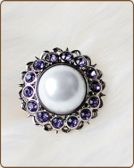 Amelia Filigree Ring in Lavender