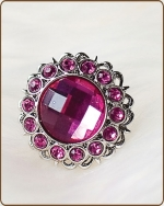 Kayli Filigree Ring in Hot Pink
