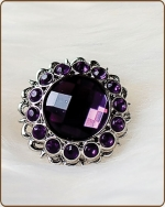 Kayli Filigree Ring in Dark Purple
