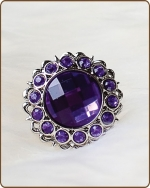Kayli Filigree Ring in Purple
