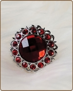 Kayli Filigree Ring in Red