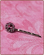 Ittybitty Lauren Bobby Pin in Hot Pink