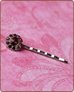 Ittybitty Lauren Bobby Pin in Red