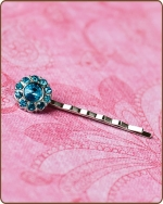 Ittybitty Lauren Bobby Pin in Turquoise