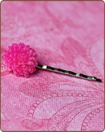 Madeline Bobby Pin in Hot Pink