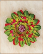 Daisy Flower Clippie Artichoke/Hot Pink