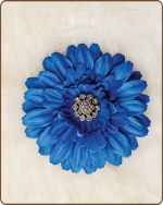 Daisy Flower Clippie Blue