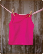 Hot Pink Sleeveless Tshirt
