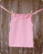 Lt Pink Sleeveless Tshirt