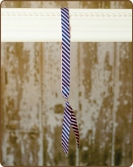 Ribbon Toggle Headband Pink w/Navy Stripes