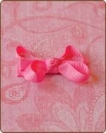 Baby Bow Hot Pink