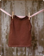 Brown Sleeveless Tshirt