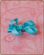 Baby Bow Misty Turquoise