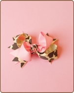 Boutique Twisted Bow Pink Cheetah