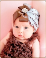 Blue/Brown Feather Headband