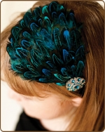Dyed Almond Pheasant Feather Headband