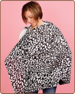Black Leopard Nursing Cover